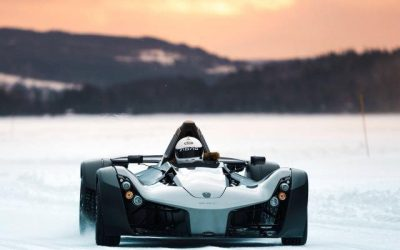 BAC test Mono on the Frozen lakes of Sweden