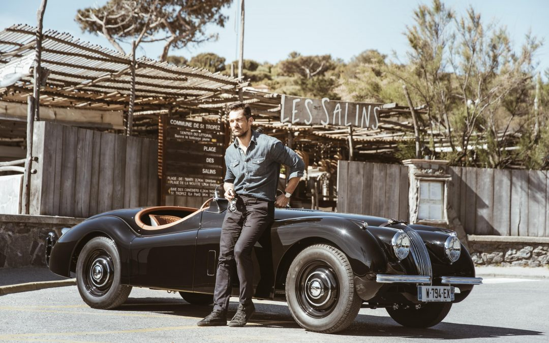 A tailor made Jaguar XK120 for David Gandy