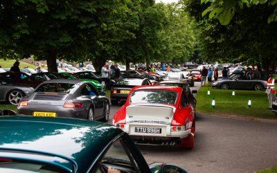 Simply loads of Porsches at Beaulieu